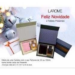 1 Carteira por perfume - oferta Natal Larome
